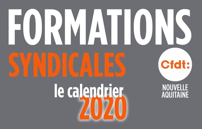 CFDT   Calendrier Formation 2020